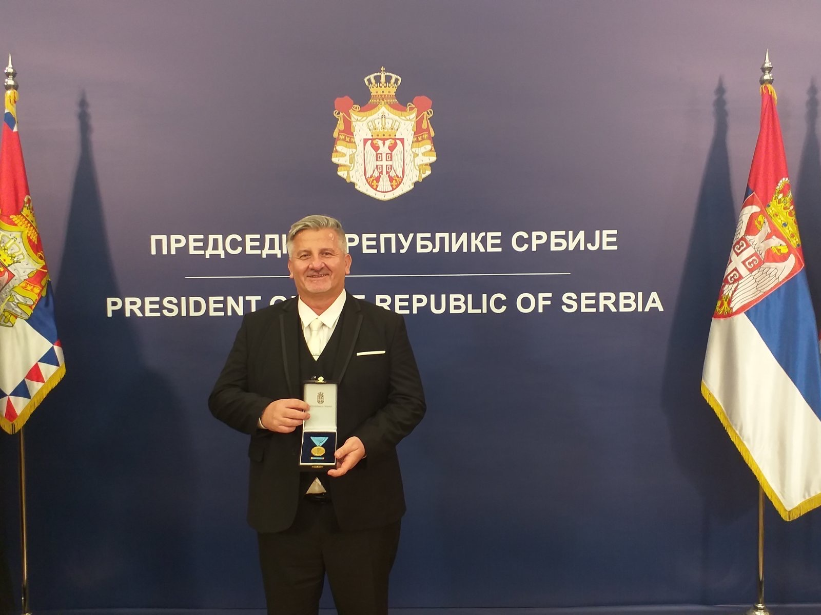 The President of the Republic of Serbia Awarded the Director of the Archives of Vojvodina Dr. Nebojša Kuzmanović with a Gold Medal for His Achievements
