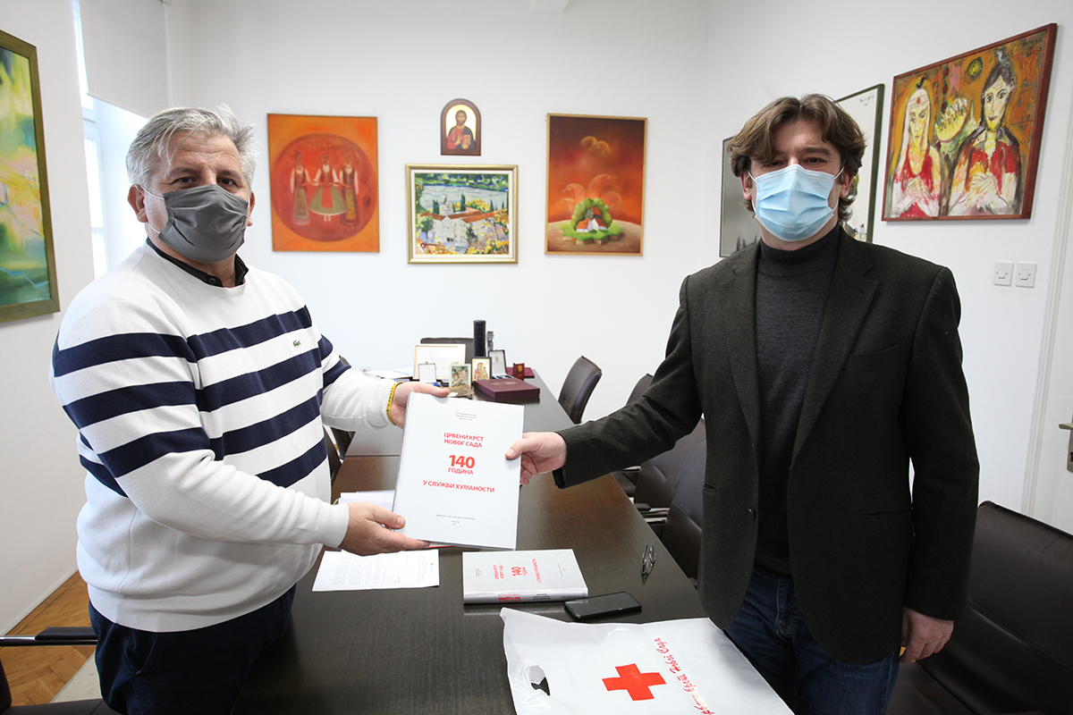 Secretary of the Novi Sad Red Cross at the Archives of Vojvodina