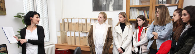 High School Students from the Gymnasium of Karlovci Visit the Archives of Vojvodina