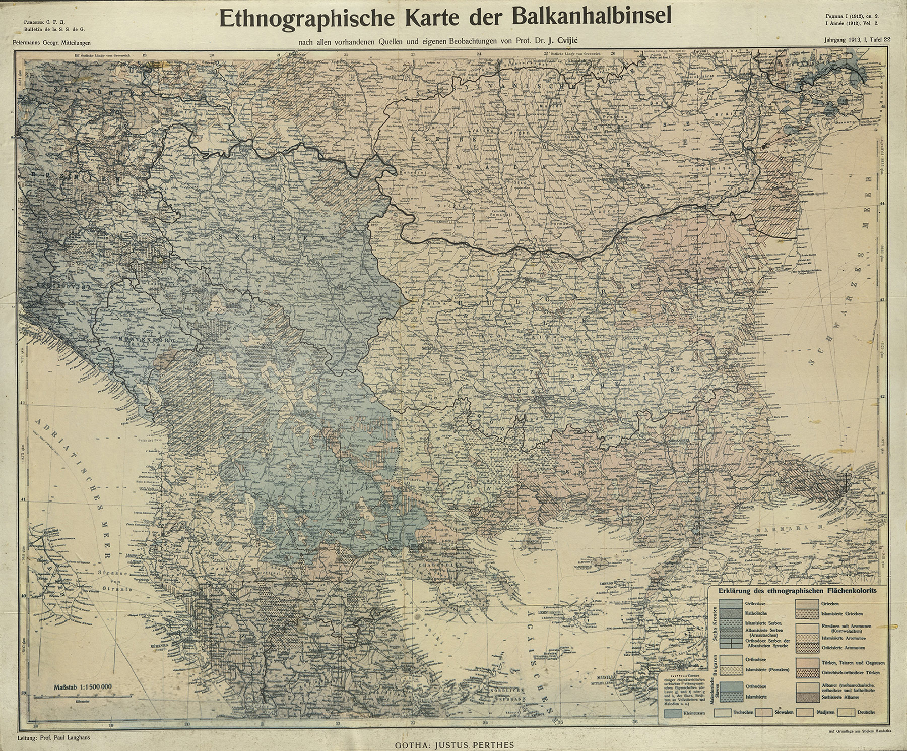 An Ethnographic Map of the Balkan Peninsula